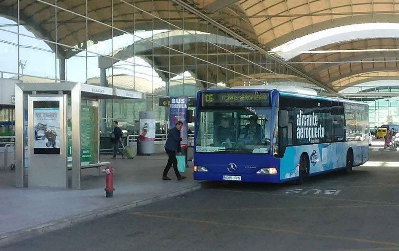 Автобус C6 из аэропорта Аликанте в город