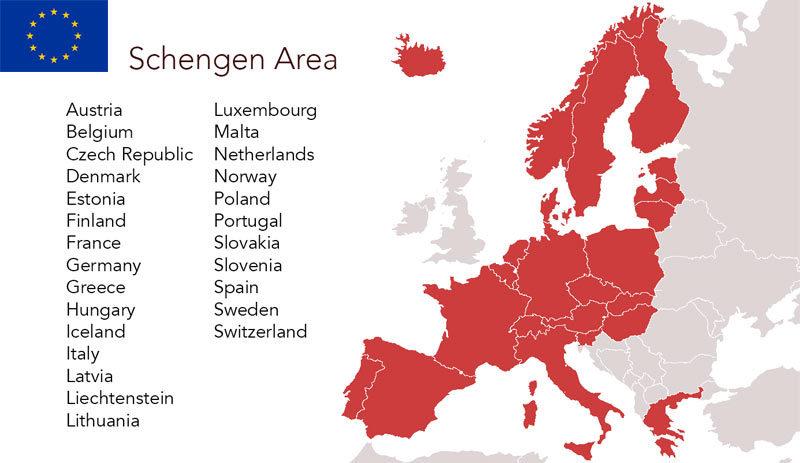 Список стран Европы куда можно получить долгосрочную шенгенскую визу