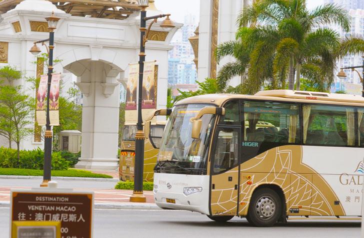 """бесплатные автобусы от казино """"Galaxy"""" в Макао"""