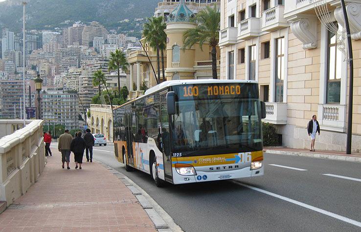 Автобус из Ниццы в Монако