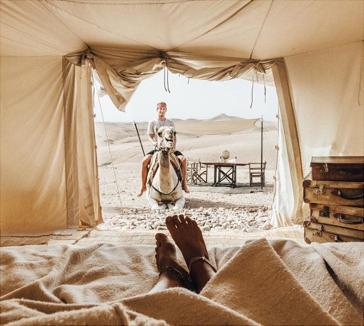 В пустыне Марокко