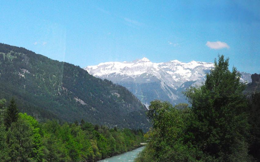 Горы, поля, реки
