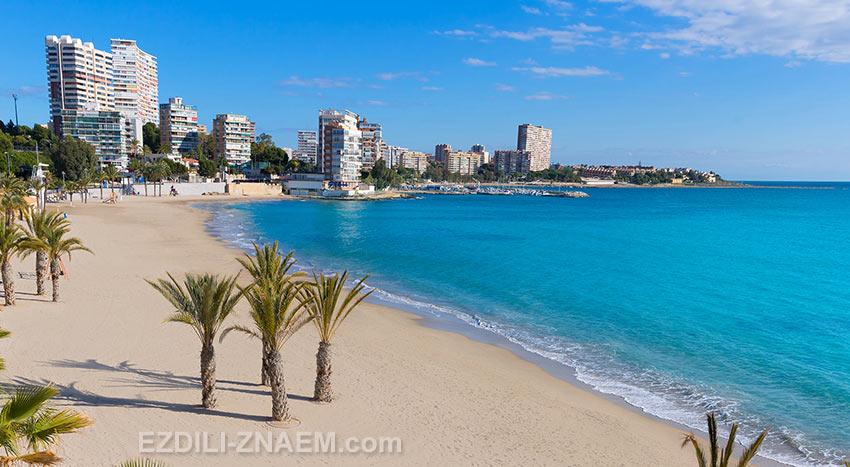 Пляж Сан-Хуан в Аликанте