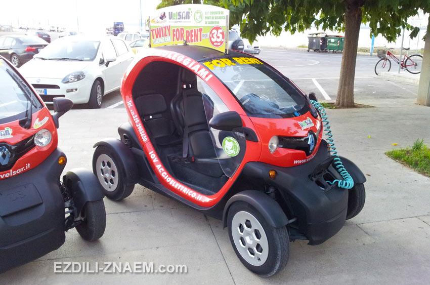 Аренда электромобилей в Альгеро