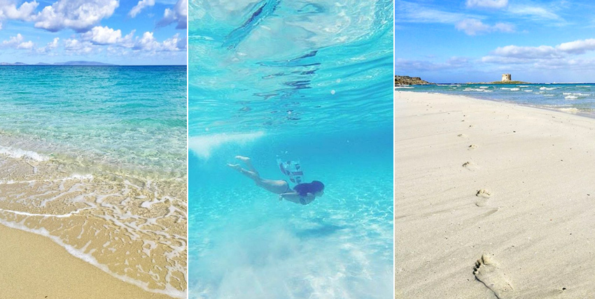 Пляж La Pelosa на Сардинии
