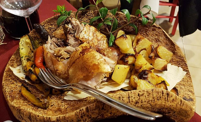Традиционное сардинское блюдо в ресторане La Saletta