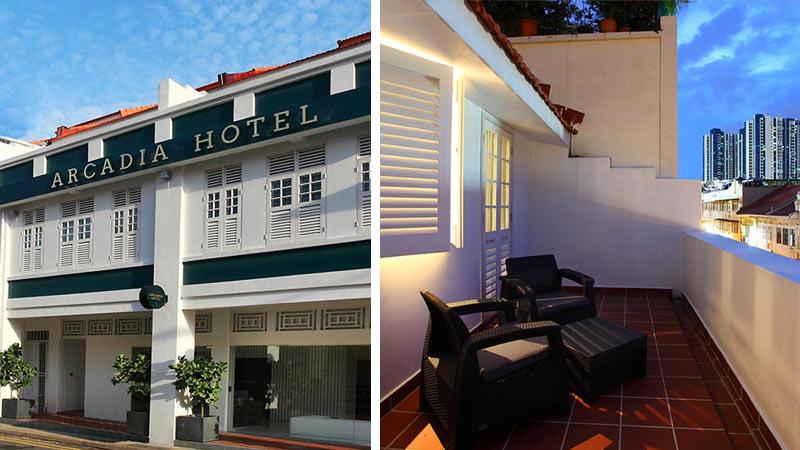 Отель Arcadia Hotel в районе Лавендер, Сингапур