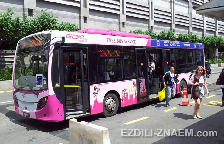 Бесплатные автобусы GO KL в Куала Лумпур, Малайзия
