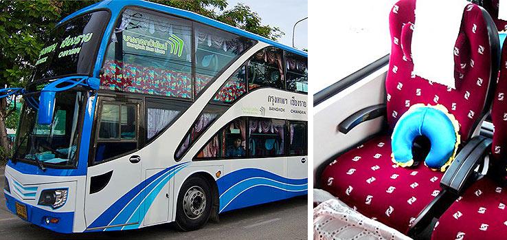 Автобус из Бангкока в Чиангмай