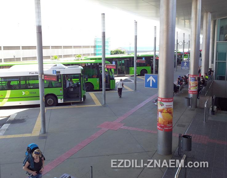 Автовокзал в Санта-Круз. Тенерифе