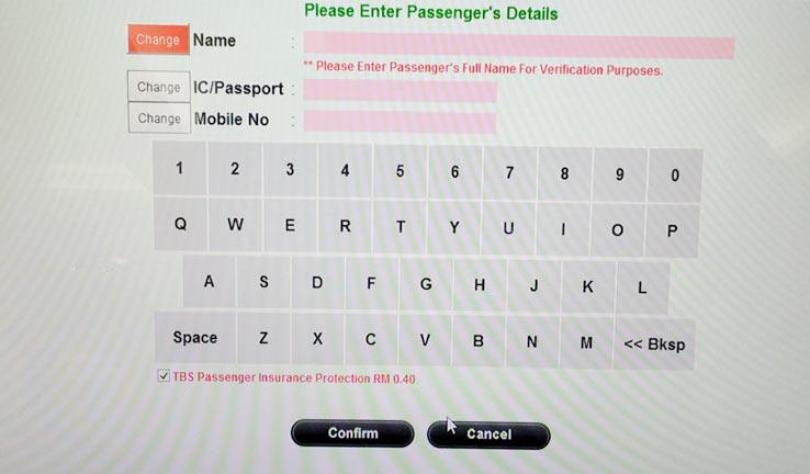 Как купить на автобус из Куала Лумпур