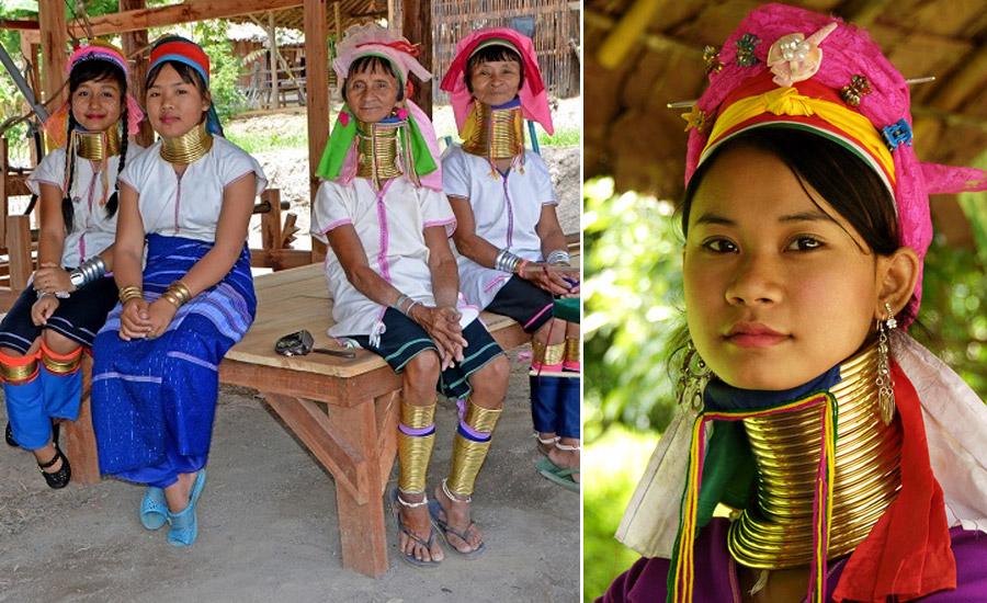 Женщины с длинной шеей из племени каренов
