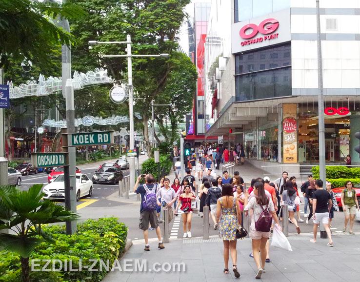 Шоппинг на улице Орчард в Сингапуре