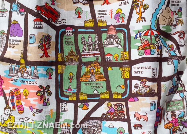 Забавная карта Чиангмая