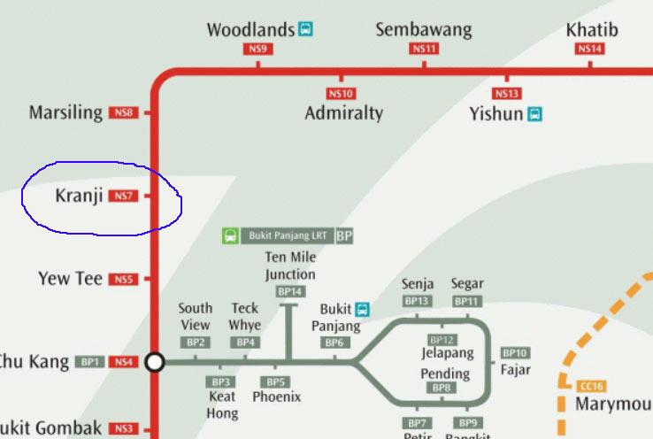 Станция метро до которой идет 170-й автобус в Сингапуре
