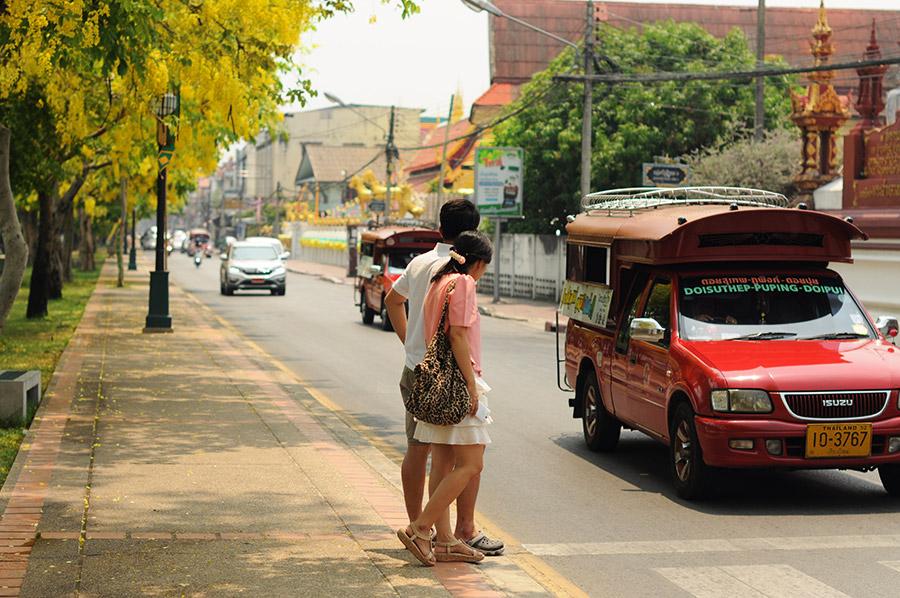 Сонгтео на улицах Чиангмая