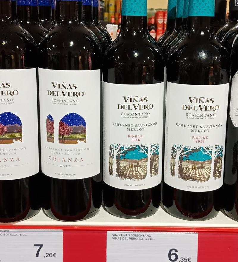 Еще одно хорошее красное вино: Vinas del Vero, Сомонтано