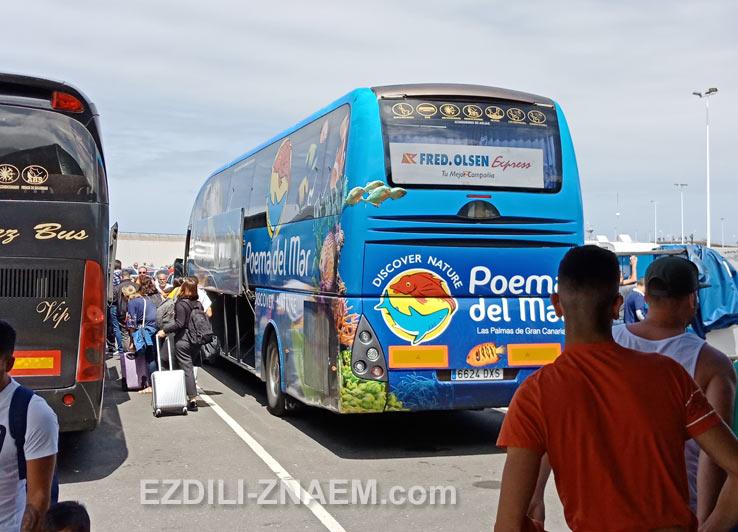 Бесплатный автобус из Агаете в Лас-Пальмас