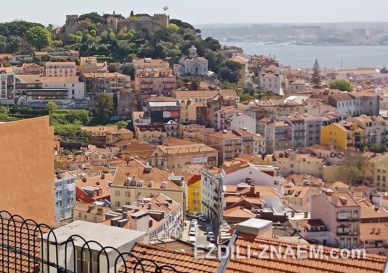 Вид на Лиссабон со смотровой площадки у церкви Граса