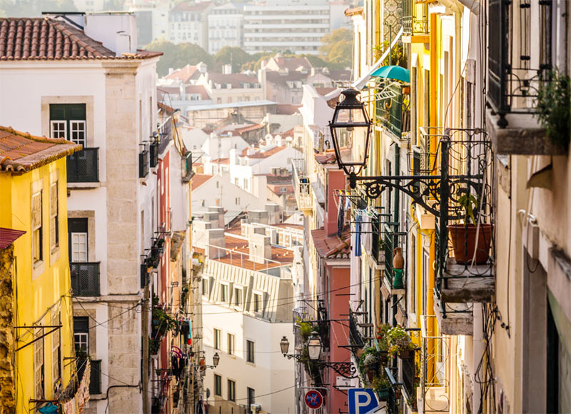 Район Байрру Альту в Лиссабоне