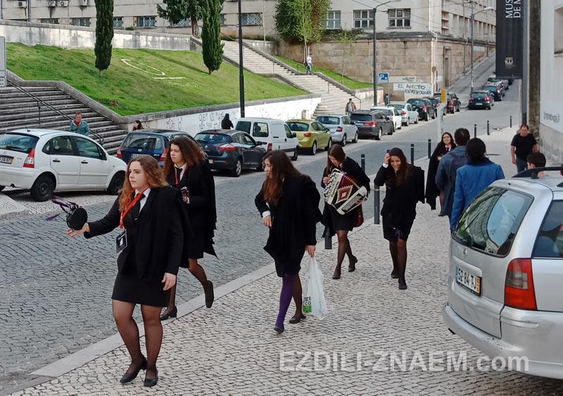 Студенты в португальской Коимбре