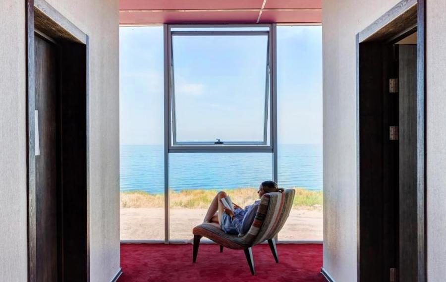 Вид на море из отеля «Кучугуры»