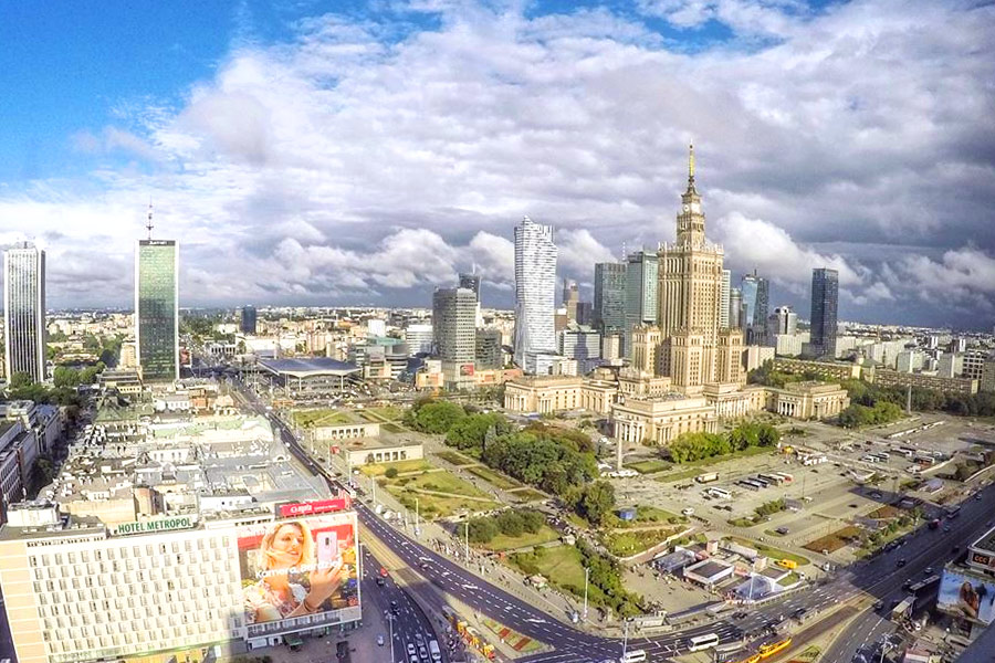 """Вид на Варшаву из отеля """"Novotel Warszawa Centrum"""""""
