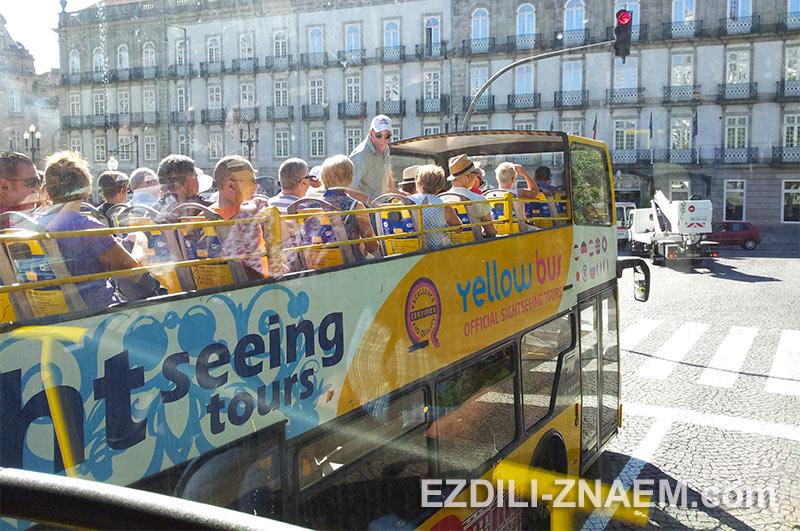 Вид из окна автобуса №500 в Порту