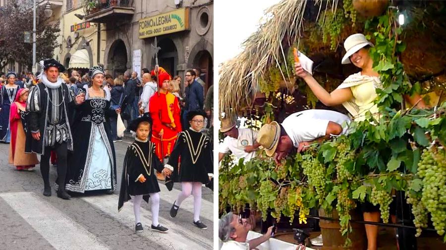 Фестиваль вина Marino Sagra dell'Uva, рядом с Римом