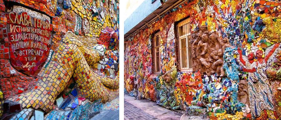 мозаичный дворик - одна из потайных достопримечательностей Питера
