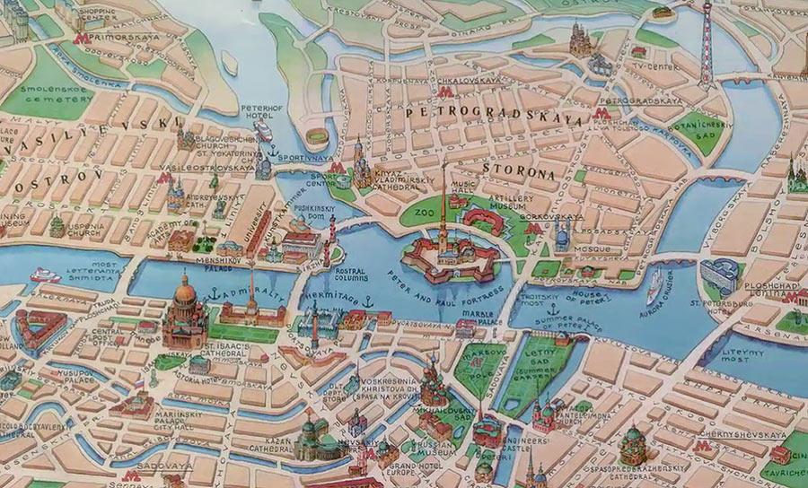 Центр Петербурга на карте