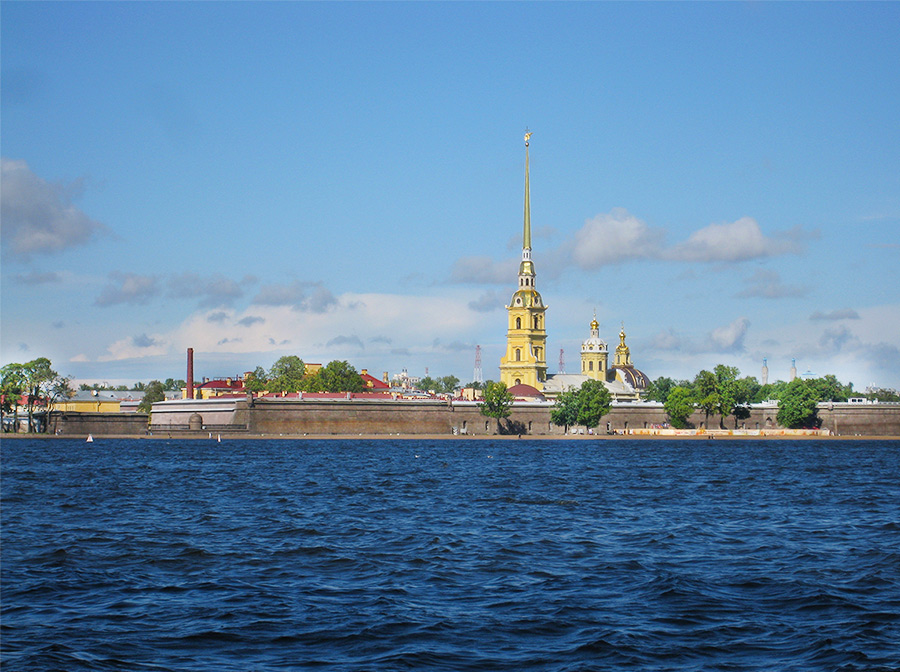На фото Санкт-Петербург, Петропавловская крепость