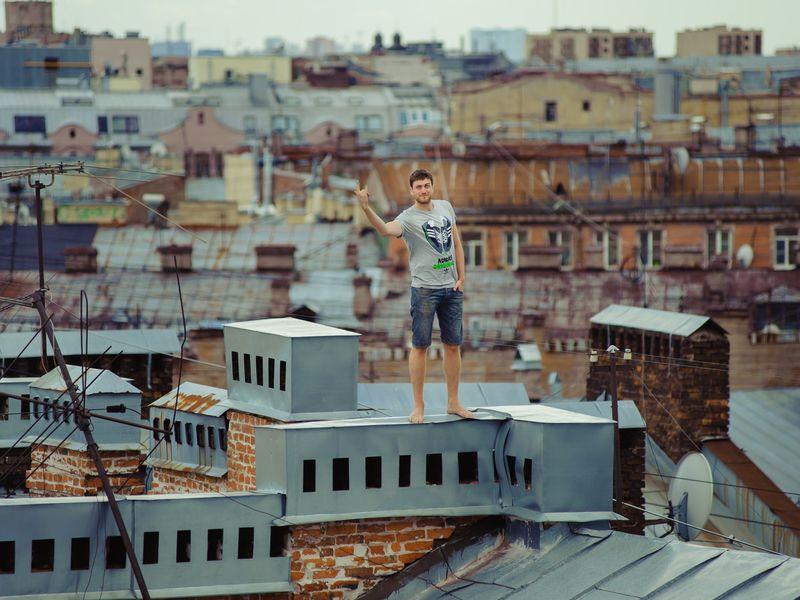 По крышам Петербурга