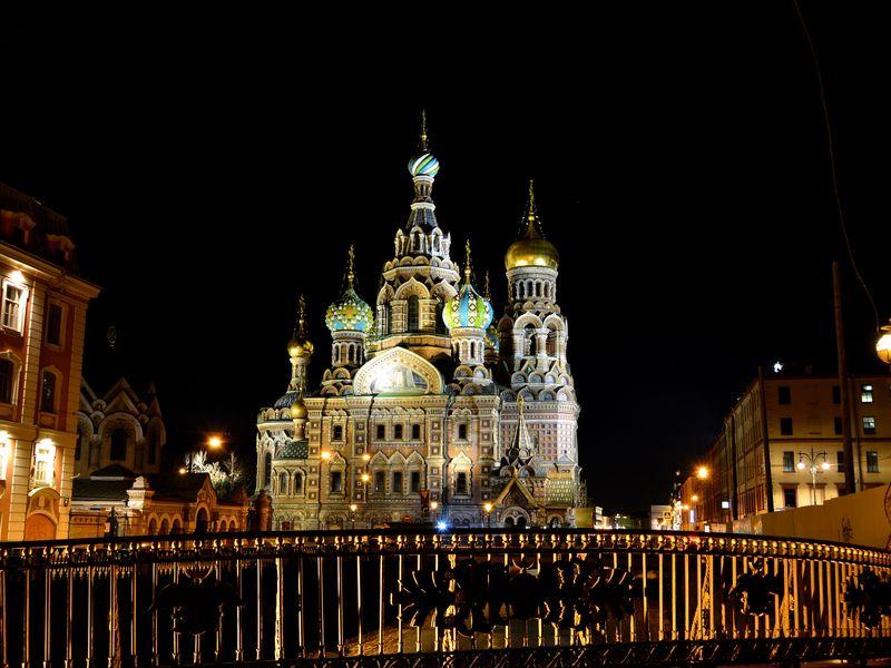 Ночной Петербург, храм Спас на Крови