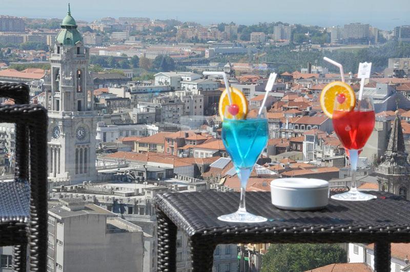 вид с террасы отеля Dom Henrique в Порто