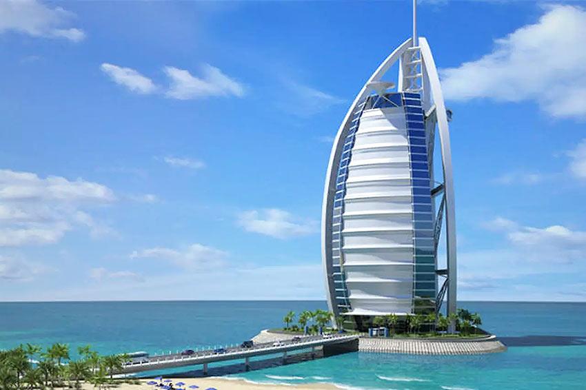 вид из окна отеля Jumeirah Beach