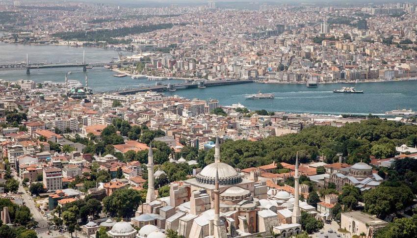вид на пролив Золотой Рог, Стамбул