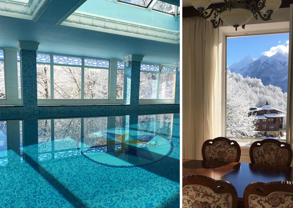 «Горный Хрусталь» - отель с подогреваемым бассейном на Красной Поляне