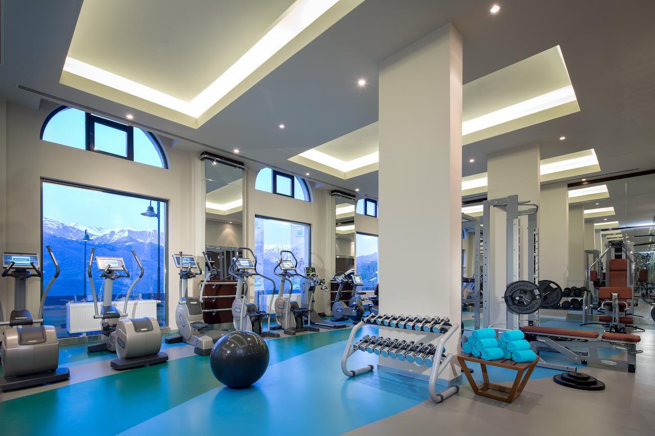 Тренажерный зал в отеле «Горки Панорама»