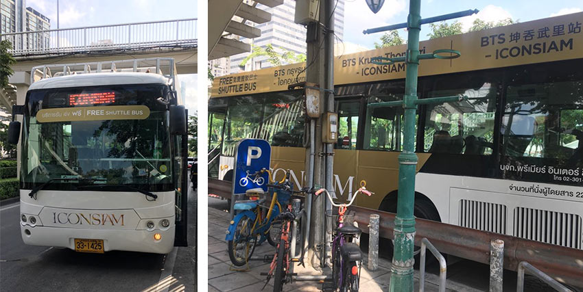 Бесплатные автобусы до торгового центра IconSiam в Бангкоке