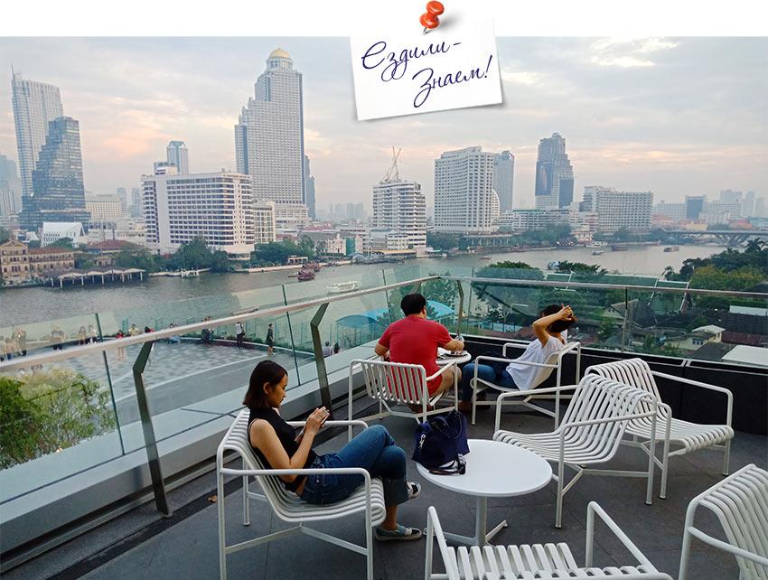 Вид на реку из торгового центра IconSiam в Бангкоке