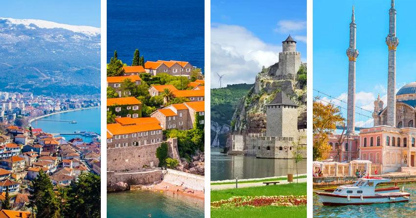 На фото: безвизовые страны Европы - Сербия, Хорватия, Черногория