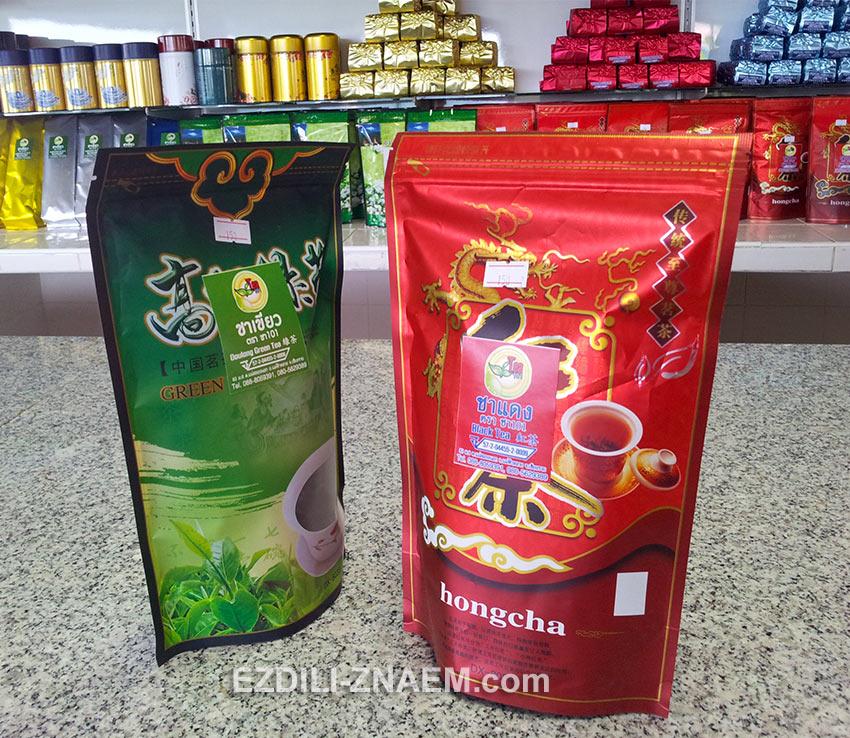 улун и красный тайский чай