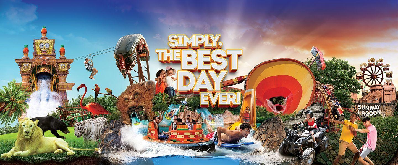 Парк развлечений Sunway Lagoon в Куала Лумпур