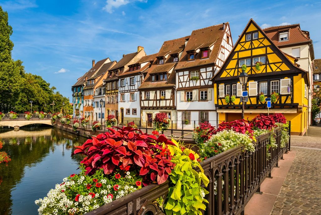 Город Кольмар во Франции