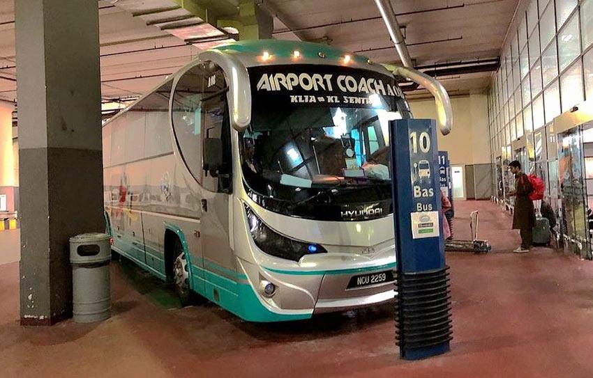 Автобус из аэропорта KLIA до автовокзала KL Sentral