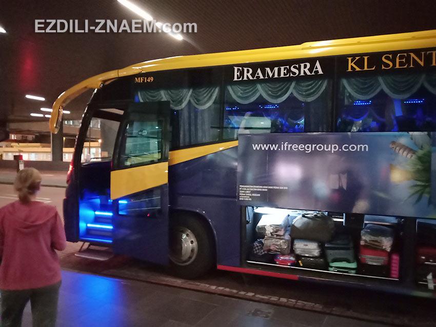 автобус из аэропорта Куала-Лумпур на платформе A6