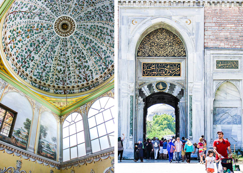 Фрагменты внутренних дворов во Дворце Топкапы, Стамбул