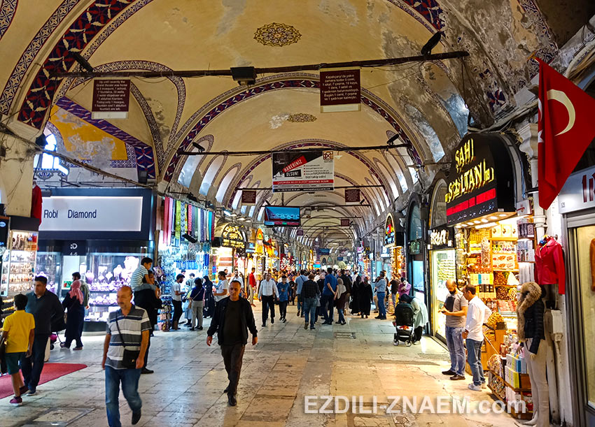 Прогулка по Гранд базару в Стамбуле