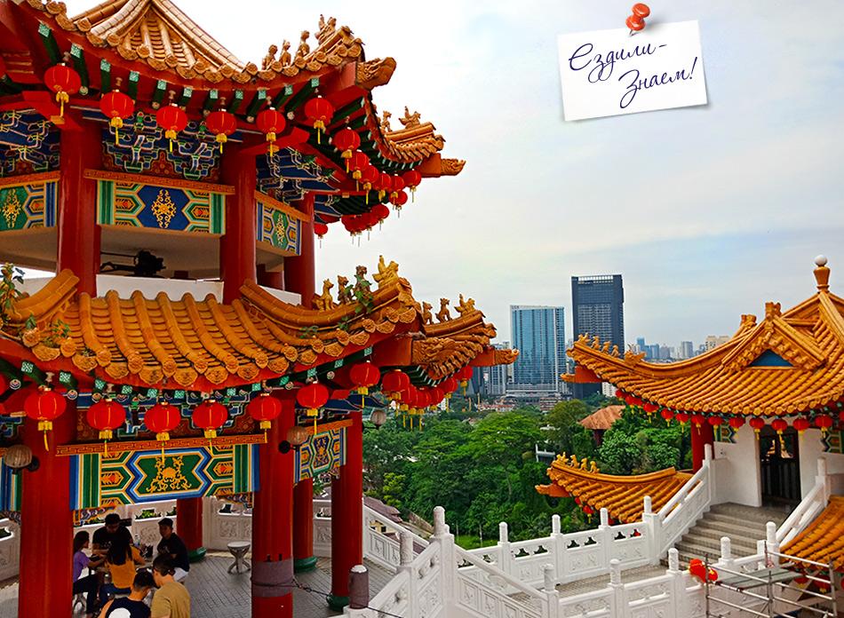 Вид с верхних террас храма